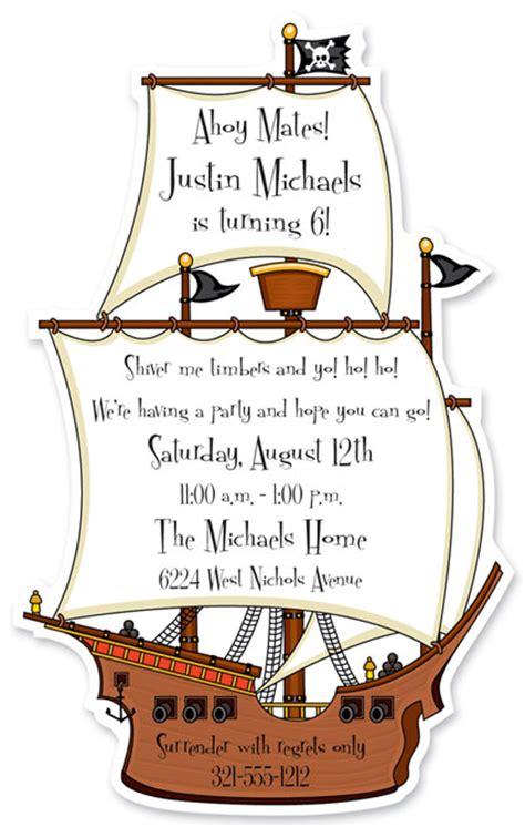 pirate ship theme invitation - Ship Birthday Invitations
