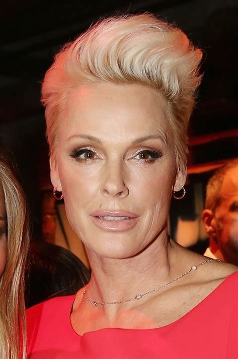 blonde hairstyles for over 50 brigitte nielsen short blonde quiff hairstyle for women