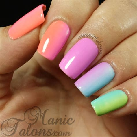 easy nail art collection simple gradient using the ibd just gel social lights