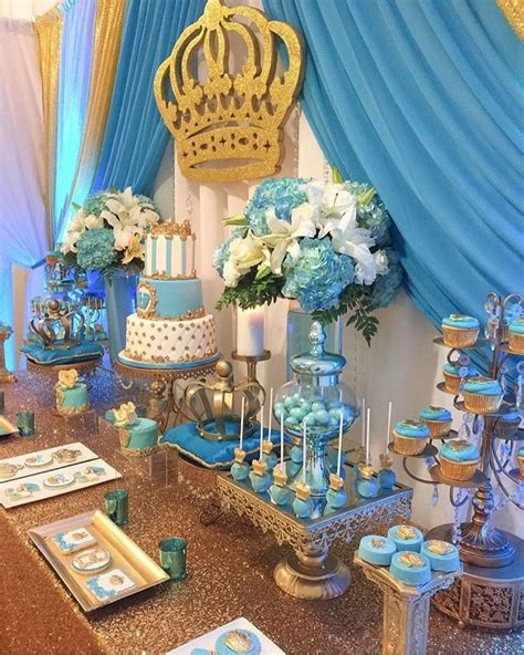 baby shower decorations blue and white