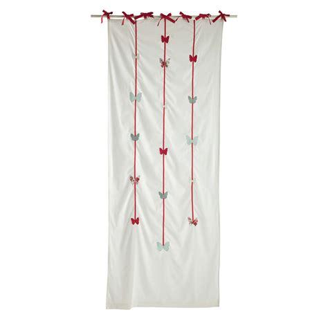 tende con laccetti tenda rosa in cotone con laccetti 105 x 250 cm