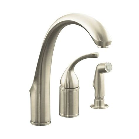 kohler forte pull out kitchen faucet kohler co 10430 bn forte single control remote valve