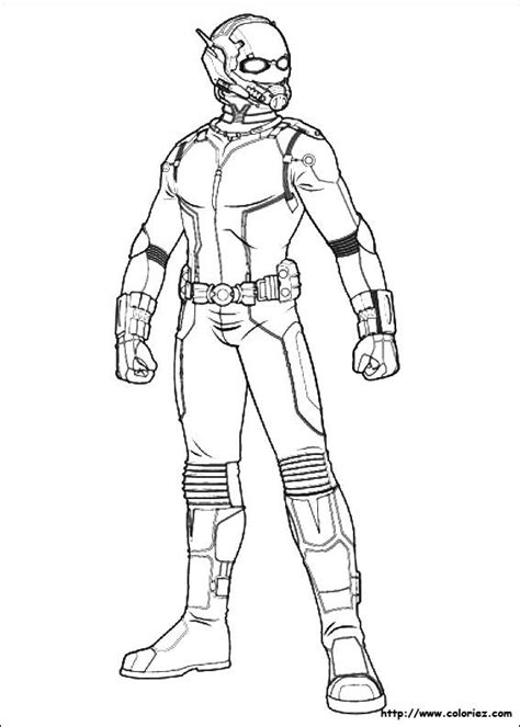 coloring pages  ant man superheroes tons