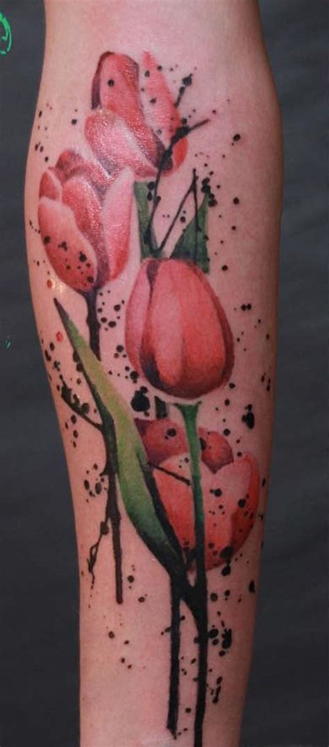 watercolor tulip tattoos 50 tulip design ideas tulip