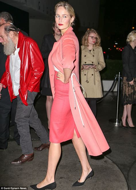 Leelee Sobieskis Pink by Zoe Kravitz In Midriff Baring Top And Slit Skirt At
