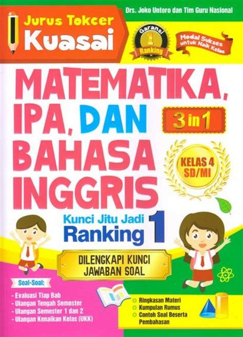 Buku Belajar Bahasa Inggris Kelas 4 bukukita jurus tokcer kuasai matematika ipa dan bahasa inggris kelas 4 sd mi