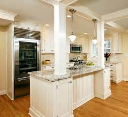 Kitchen Island With Columns Wall Knock Out Kitchen Design Ideas Pictures Remodel And