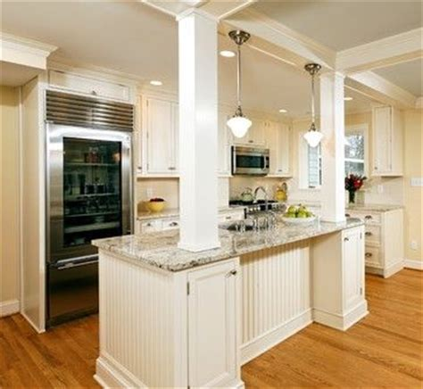kitchen islands with columns wall knock out kitchen design ideas pictures remodel and decor redecorating ideas