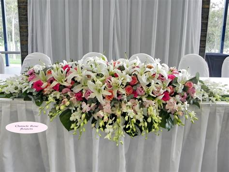 Wedding Flowers Table Arrangement chanele flowers sydney wedding stylist