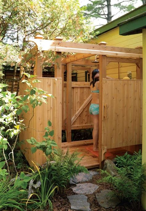 how to make an outdoor bathroom free outdoor shower wood plans