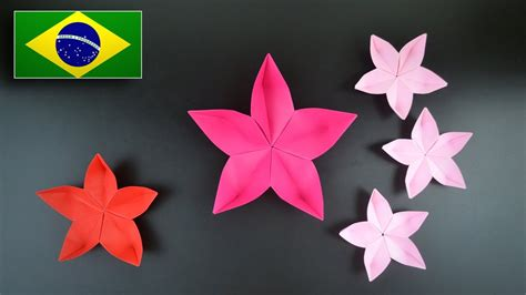 Flor Origami - origami flor instru 231 245 es em portugu 234 s br
