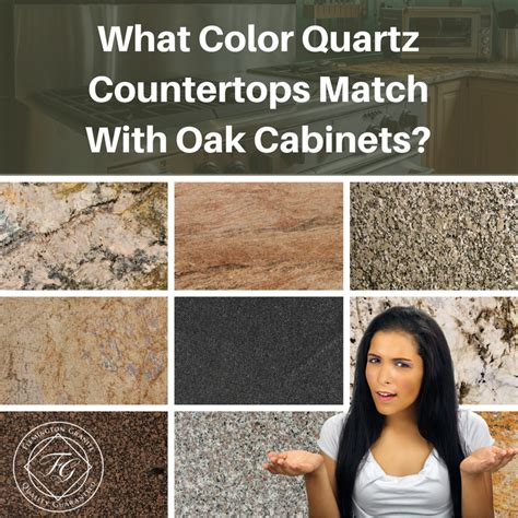 quartz countertops with oak cabinets what color quartz countertops match with oak cabinets