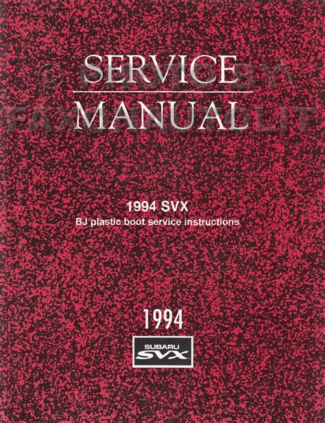 1994 subaru legacy repair shop manual supplement original 1994 subaru svx repair shop manual original supplement front drive shaft boot