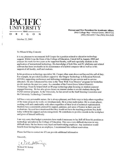 letter of recommendation for middle school student dotxes
