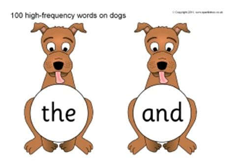 words related to dogs animal themed high frequency sight words teaching resources and printables sparklebox