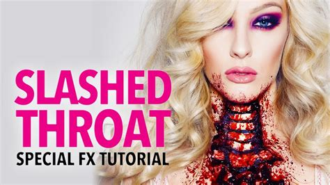fx tutorial makeup slashed throat fx makeup tutorial youtube