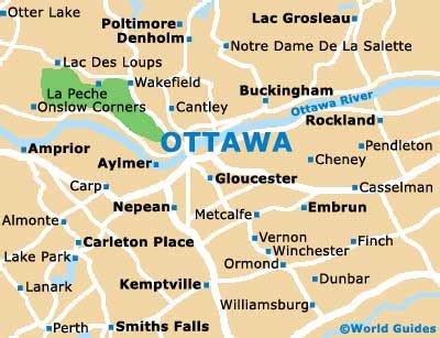 map of canada ottawa ottawa travel guide and tourist information ottawa