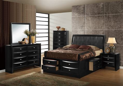 global bedroom furniture hayden black bedroom set by global furniture