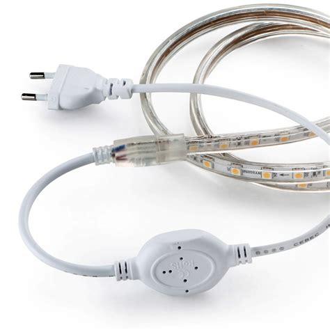 ac led light strip 5050smd led strip flexible light ac 220v eu plug ip67