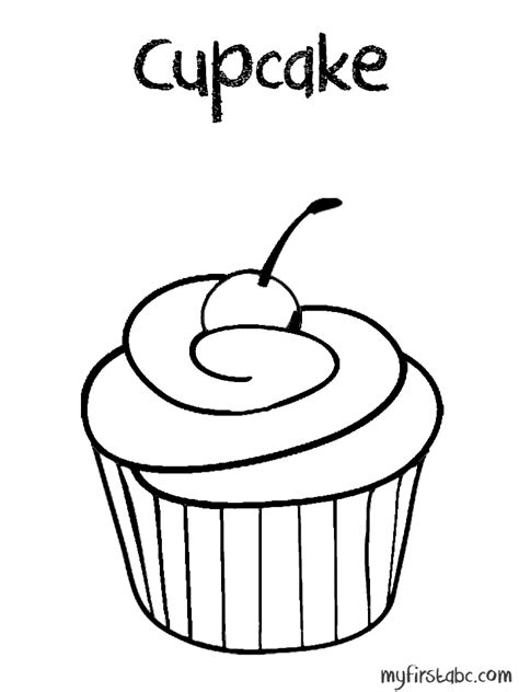 coloring page cupcake cupcake coloring page coloring home