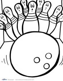 bowling pin coloring page coloring pages
