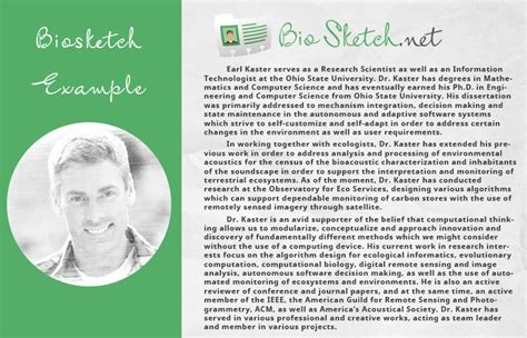 Bio Data Sle For by Army Bio Sle Army Bio Sle Nih Biographical Sketch Template