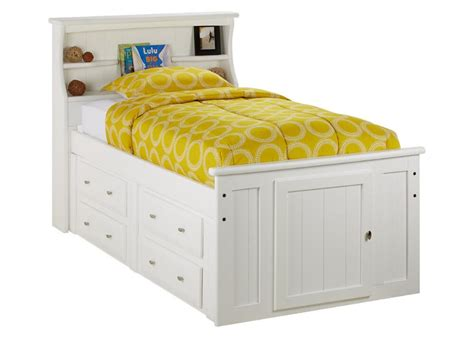 white storage bed with bookcase headboard beds chicago indianapolis the roomplace