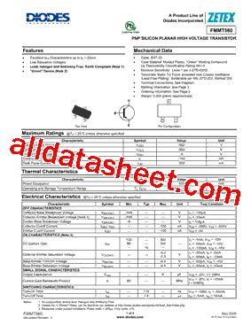 diodes inc ta suffix fmmt560ta datasheet pdf diodes incorporated