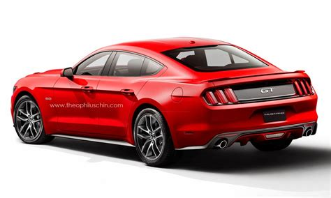 4 door ford mustang sedan rendered