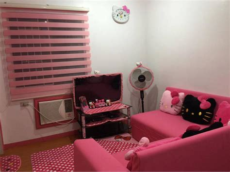 design interior rumah hello kitty desain rumah hello kitty tilan merah muda yang imut