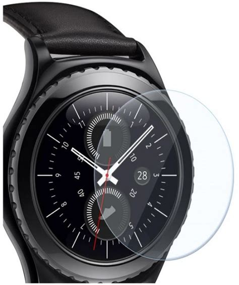 Fonel Samsung Gear S2 Tempered Glass samsung gear s2 sm r732 classic tempered glass screen