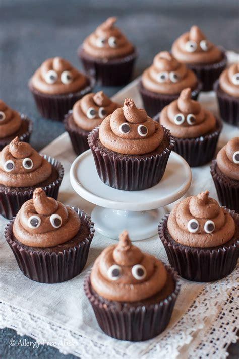 "Gluten Free ""Poopcakes""  Emoji Cupcakes   Allergy Free"
