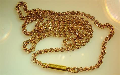 Handmade Gold Chains - circa 1860 fancy handmade chainwork of 18 karat gold