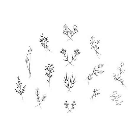 small black and white flower tattoos ideas minimalist tiny black and white