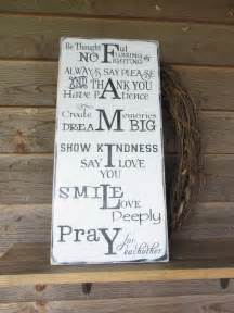 inspirational home decor signs rustic and modern family rules signs primitive rustic signs primitive