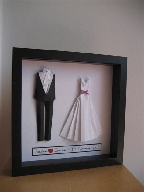 Origami Groom - and groom origami wedding or paper
