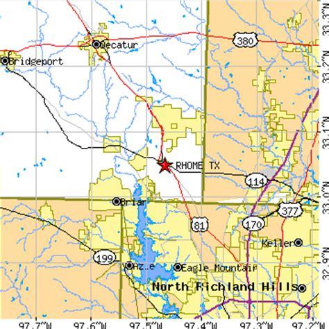 rhome texas map rhome texas tx population data races housing economy
