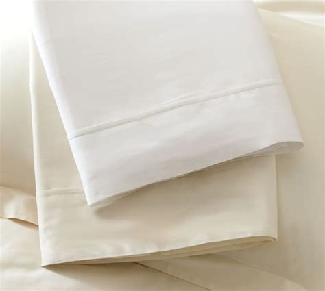 Pottery Barn Essential Sheets | pb essential 300 thread count sheet set pottery barn