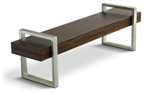 gus modern return bench modern indoor benches by