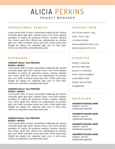 U S Resume by The Resume Soft Colored Template