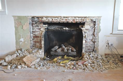 Remove Fireplace Hearth by Fireplace Demo And New Gas Insert Happening House Updated