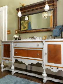 Antique Furniture Turned Into Bathroom Vanity Repurpose A Dresser Into A Bathroom Vanity How Tos Diy