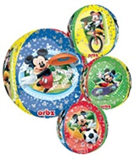 17 Cubez Mickey Mouse bargain balloons jumbo licensed mylar balloons and foil