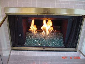 Glass Fireplace Rocks by Fireplace Glass Installation