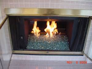 glass rock fireplace fireplace glass installation