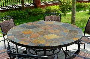 Slate Top Patio Table 63 Slate Outdoor Patio Dining Table Oceane