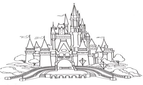 coloring pages disney castle cinderela free colouring pages
