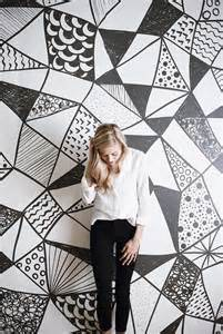 wall murals black and white geometric black and white large wall mural watercolor