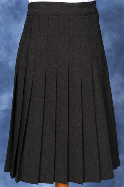 elementary gray knife pleated skirt by styles