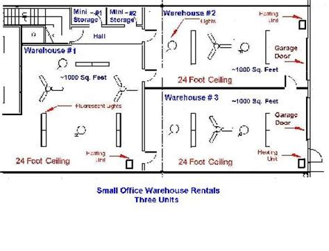 Warehouse Layout Measurements | small office warehouse rentals